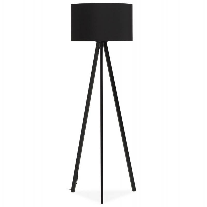 Scandinavian style TRANI (black) fabric floor lamp - image 23057