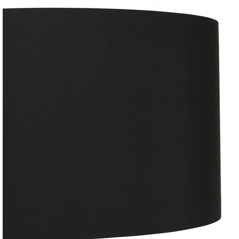 Scandinavian style TRANI (black) fabric floor lamp - image 23059