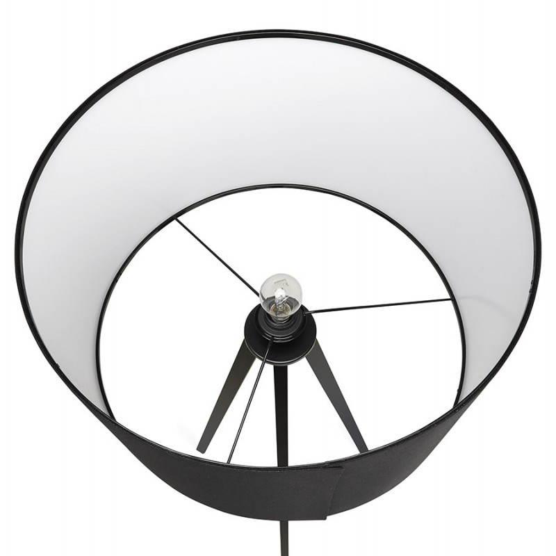 Scandinavian style TRANI (black) fabric floor lamp - image 23063