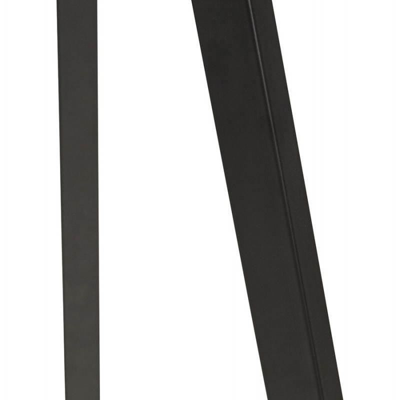 Scandinavian style TRANI (black) fabric floor lamp - image 23066