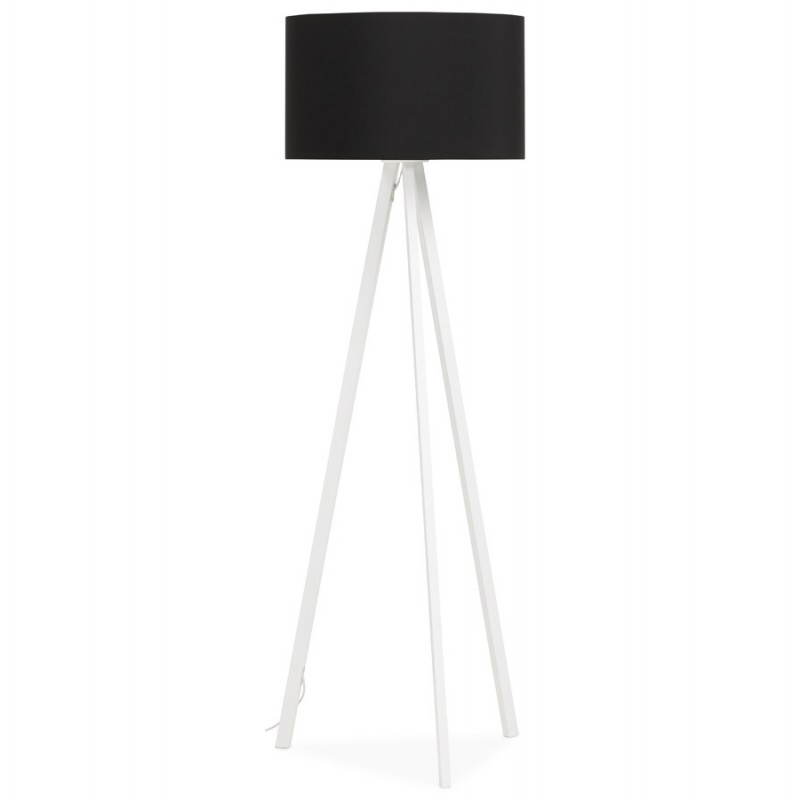Lamp foot of Scandinavian style TRANI in fabric (black, white) - image 23087
