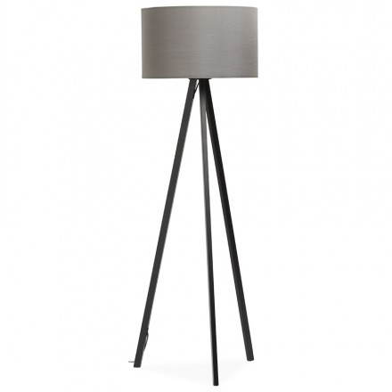 Lamp foot of Scandinavian style TRANI in fabric (gray, black)