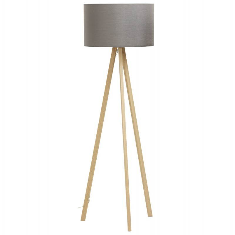 Lámpara de piso de tela de estilo escandinavo TRANI (gris, natural)
