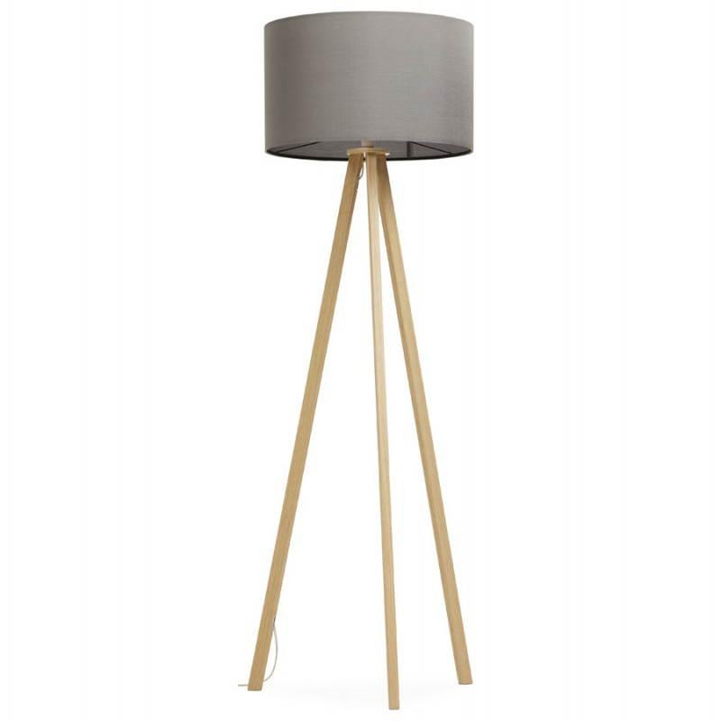 Lampe sur pied de style scandinave TRANI en tissu (gris, naturel) - image 23121
