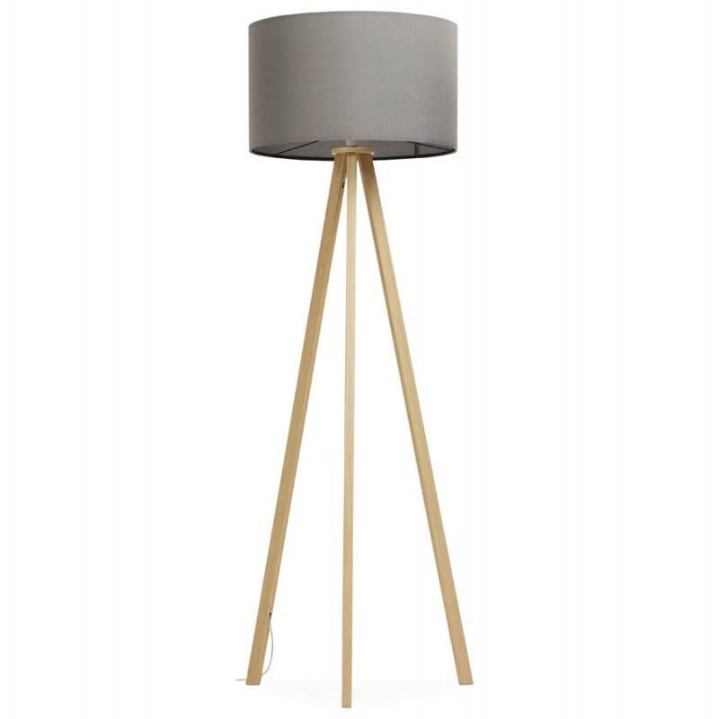 Lampe sur pied de style scandinave TRANI en tissu (gris, naturel) - image 23122
