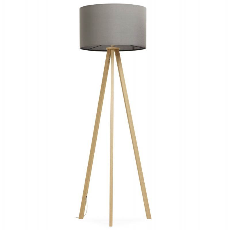 Scandinavian style TRANI (grey, natural) fabric floor lamp - image 23122