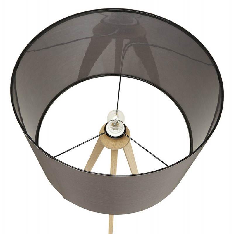 Lampe sur pied de style scandinave TRANI en tissu (gris, naturel) - image 23127