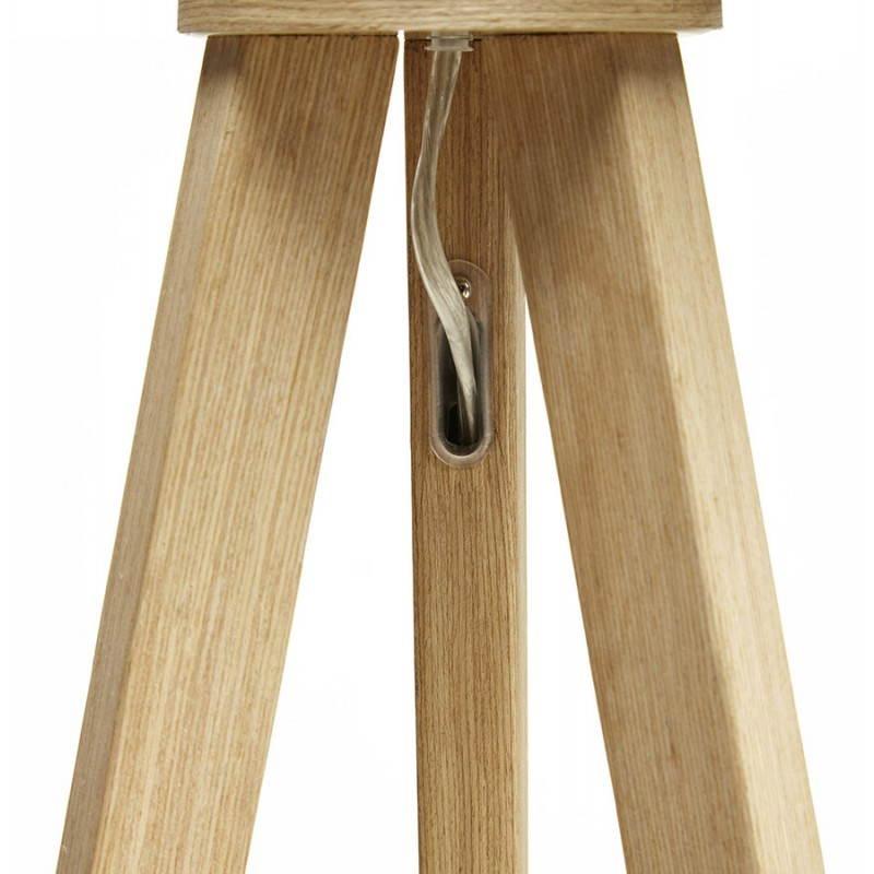 Lampe sur pied de style scandinave TRANI en tissu (gris, naturel) - image 23129