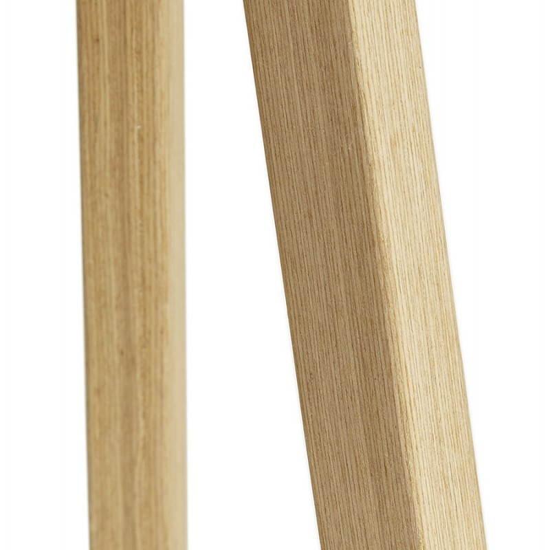Lampe sur pied de style scandinave TRANI en tissu (gris, naturel) - image 23130
