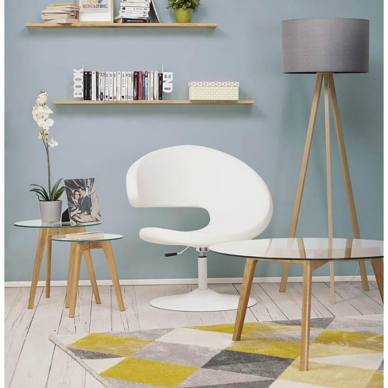 Lámpara de piso de tela de estilo escandinavo TRANI (gris, natural) - image 23135