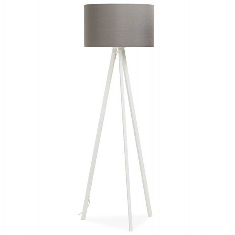Scandinavian style TRANI in fabric (grey, white) floor lamp