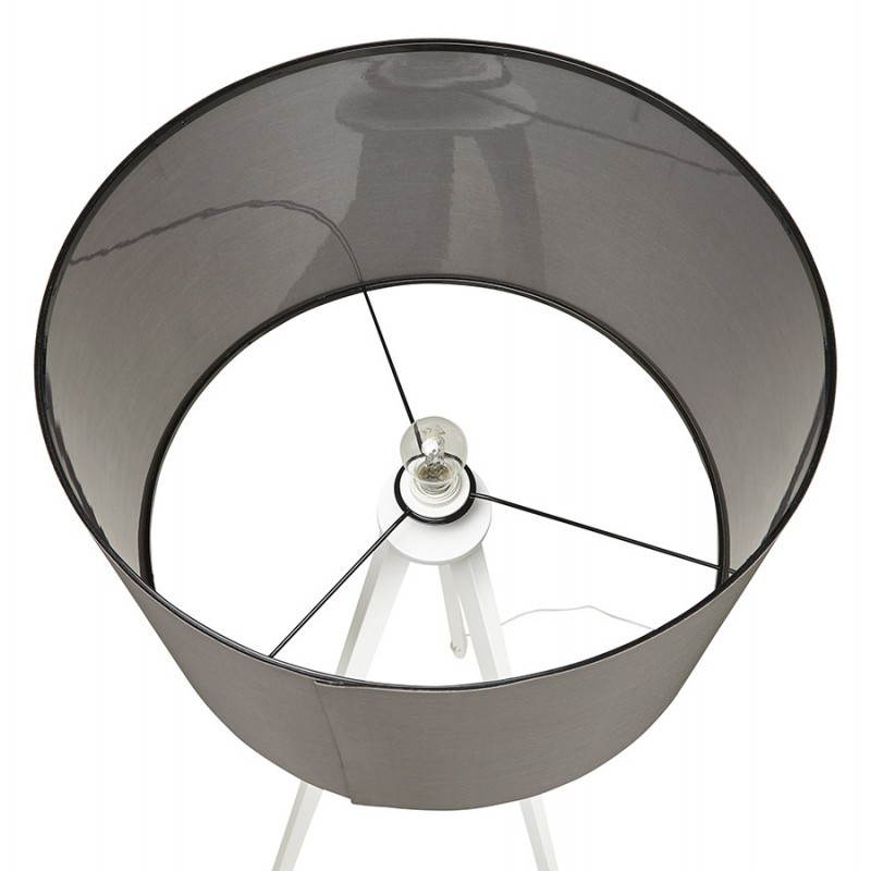 Scandinavian style TRANI in fabric (grey, white) floor lamp - image 23144