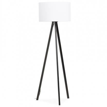 Scandinavian style TRANI (white, black) fabric floor lamp