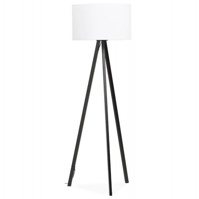 Lampe sur pied de style scandinave TRANI en tissu (blanc, noir)