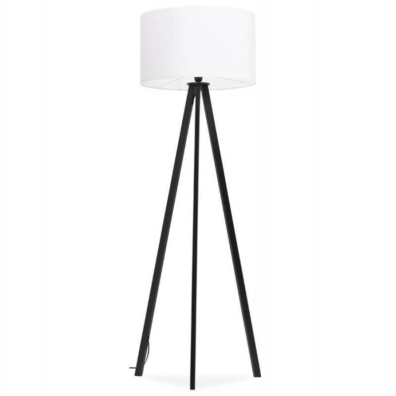 Lampe sur pied de style scandinave TRANI en tissu (blanc, noir) - image 23155