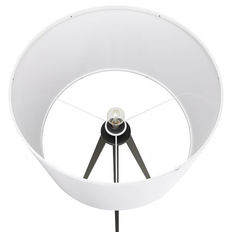 Lampe sur pied de style scandinave TRANI en tissu (blanc, noir) - image 23160
