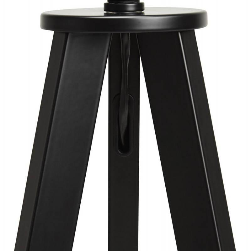 Lampe sur pied de style scandinave TRANI en tissu (blanc, noir) - image 23162