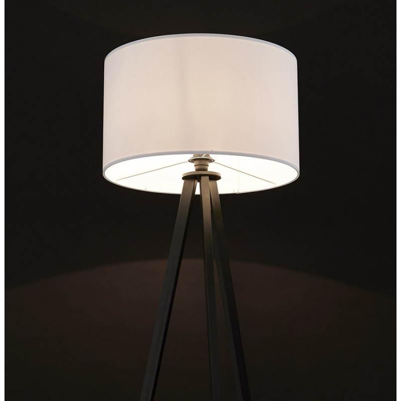 Lampe sur pied de style scandinave TRANI en tissu (blanc, noir) - image 23167