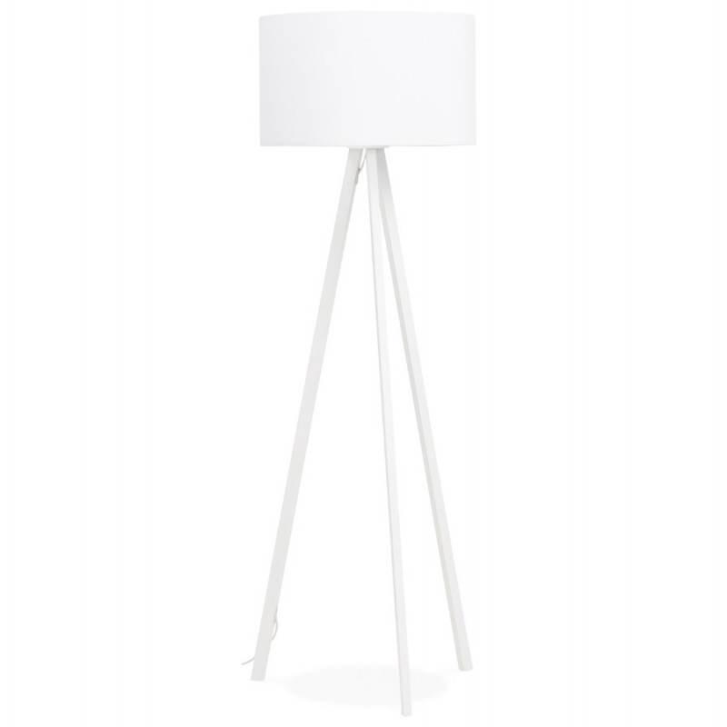 Lampe sur pied de style scandinave TRANI en tissu (blanc) - image 23184