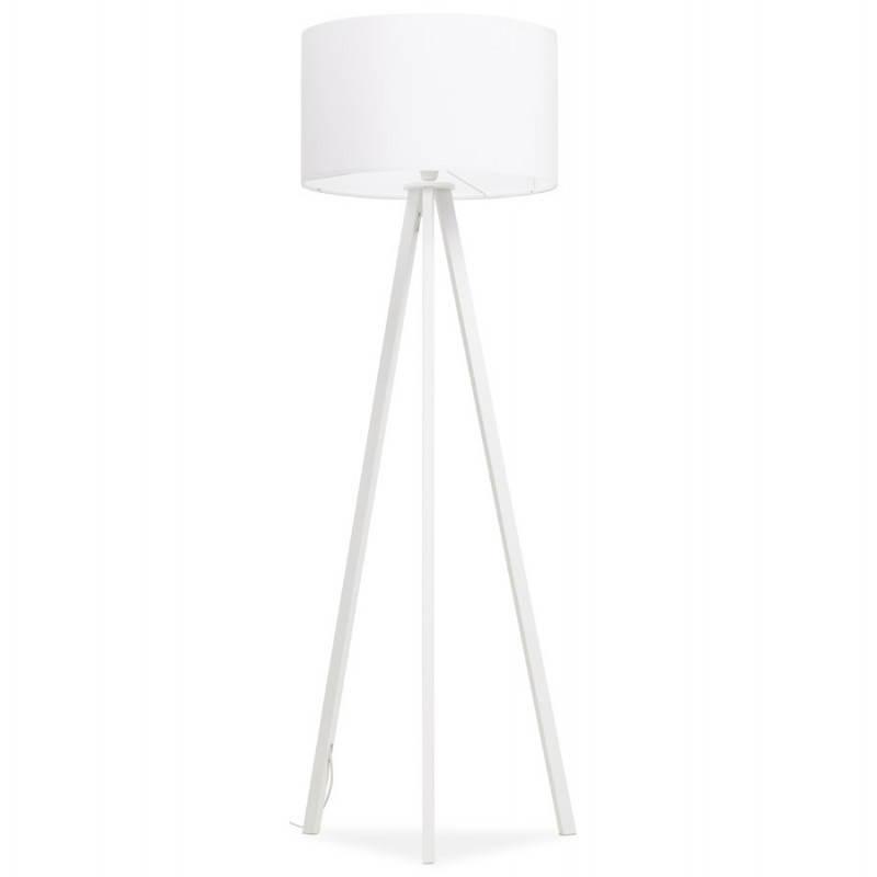 Lampe sur pied de style scandinave TRANI en tissu (blanc) - image 23187
