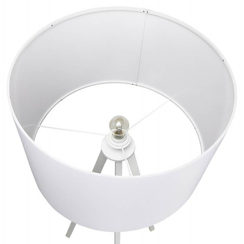Lampe sur pied de style scandinave TRANI en tissu (blanc) - image 23192