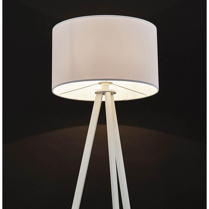 Lampe sur pied de style scandinave TRANI en tissu (blanc) - image 23199