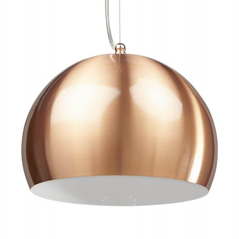 Retro colgante Lámpara Pavía en metal (cobre)