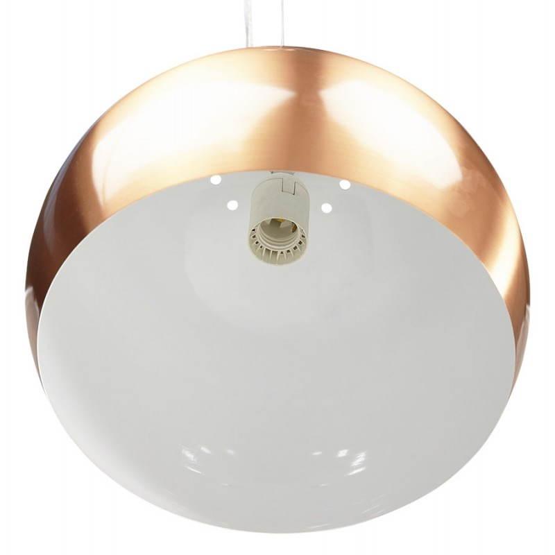 Retro hanging lamp Pavia in metal (copper) - image 23201