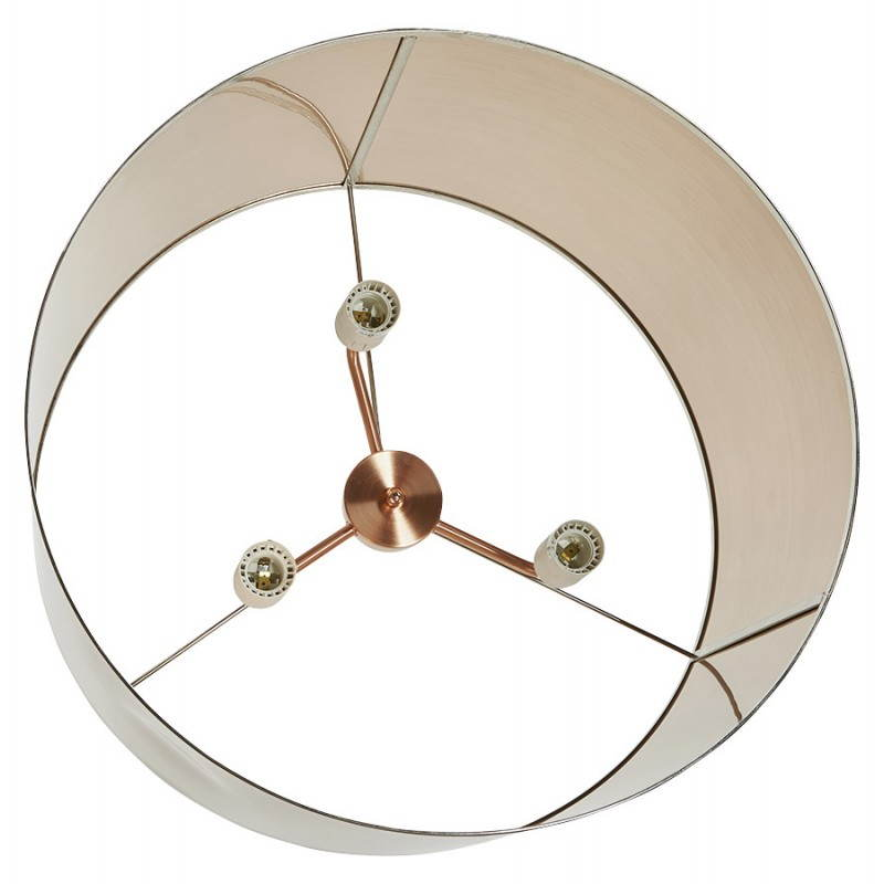 Lampe suspendue forme cylindrique LATIN (cuivre) - image 23226
