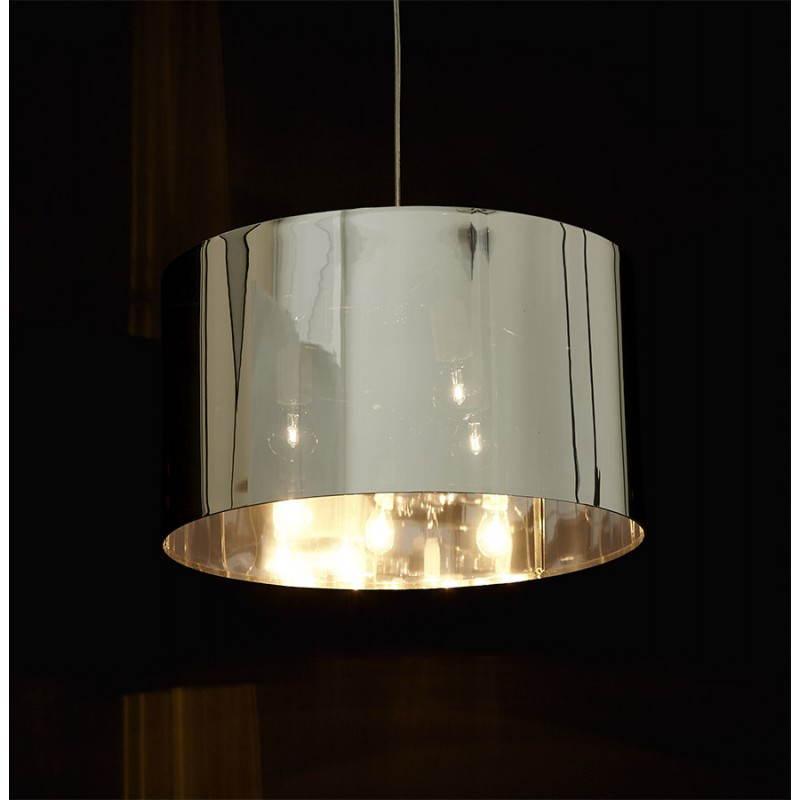 Lampe suspendue forme cylindrique LATIN (chromé) - image 23238