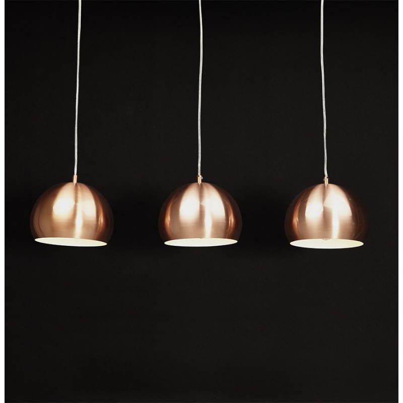 Suspendido metal de puglia l mpara retro 3 bolas cobre - Suspension luminaire en cuivre ...