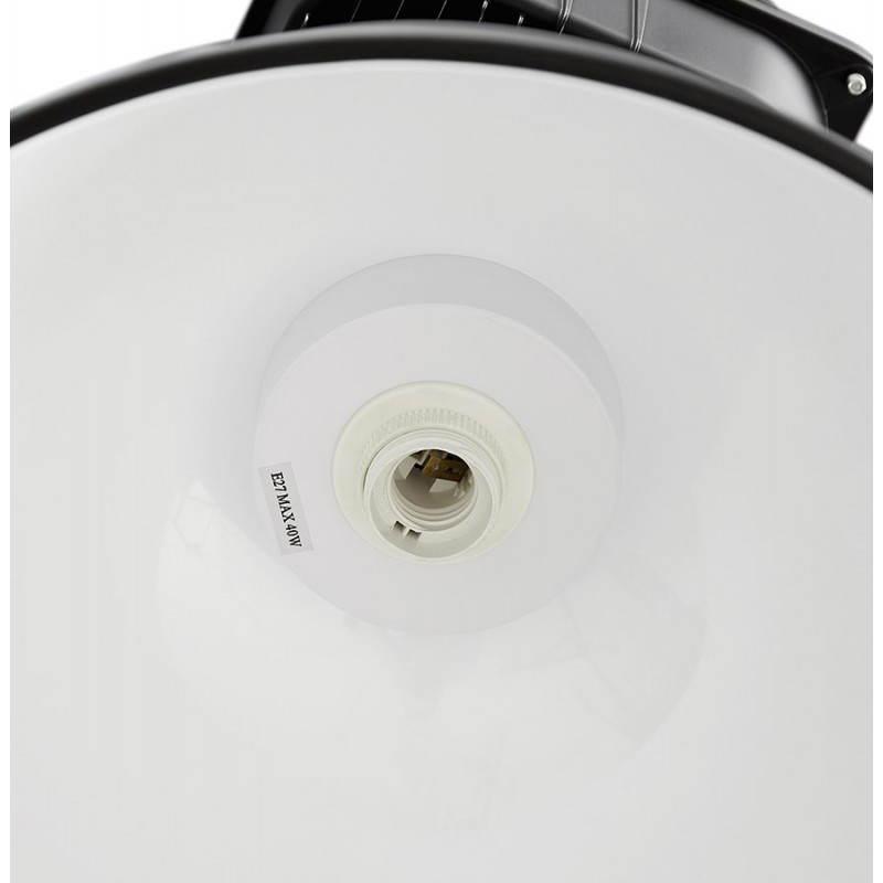Lampe suspendue industrielle SAVONE en métal (noir mat) - image 23283