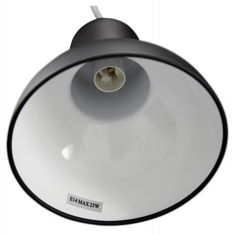 Lampe suspendue industrielle 6 globes MATERA en métal (noir mat) - image 23300