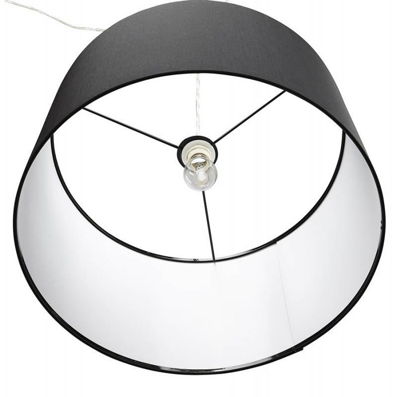 Lampe suspendue LATIUM en tissu (noir) - image 23311