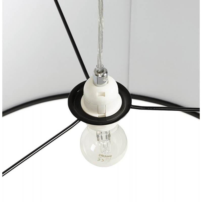 Lampe suspendue LATIUM en tissu (noir) - image 23315