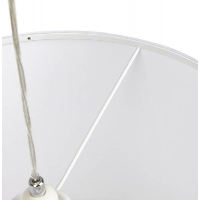 Lampe suspendue LATIUM en tissu (blanc) - image 23337