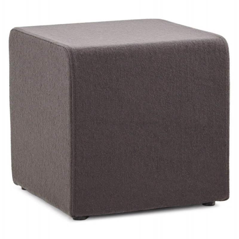 Pouf carré BARILLA en tissu (gris foncé) - image 23342