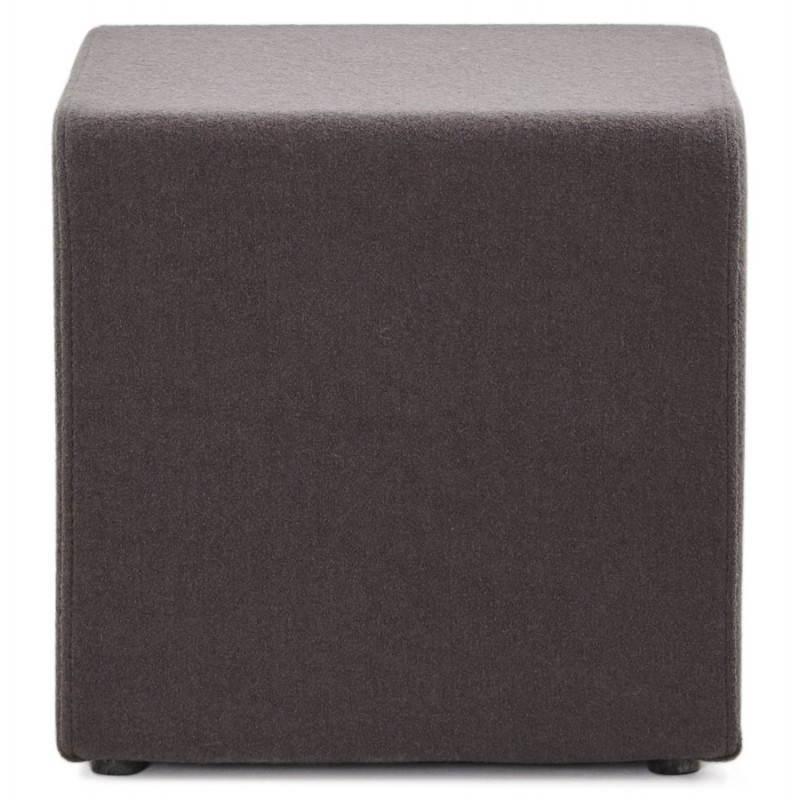 Pouf carré BARILLA en tissu (gris foncé) - image 23343