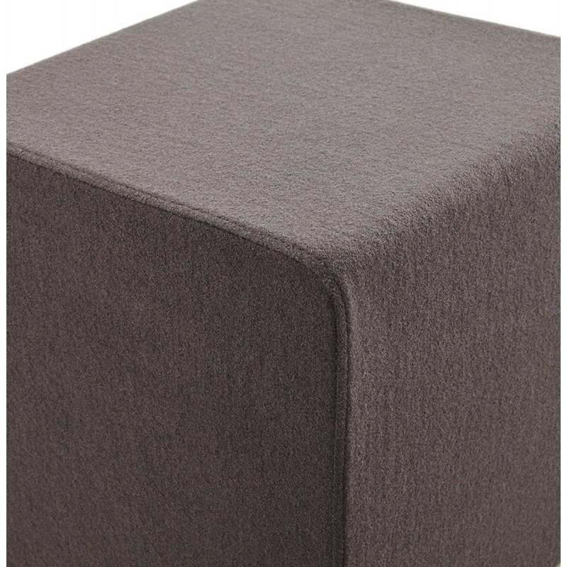 Pouf carré BARILLA en tissu (gris foncé) - image 23344