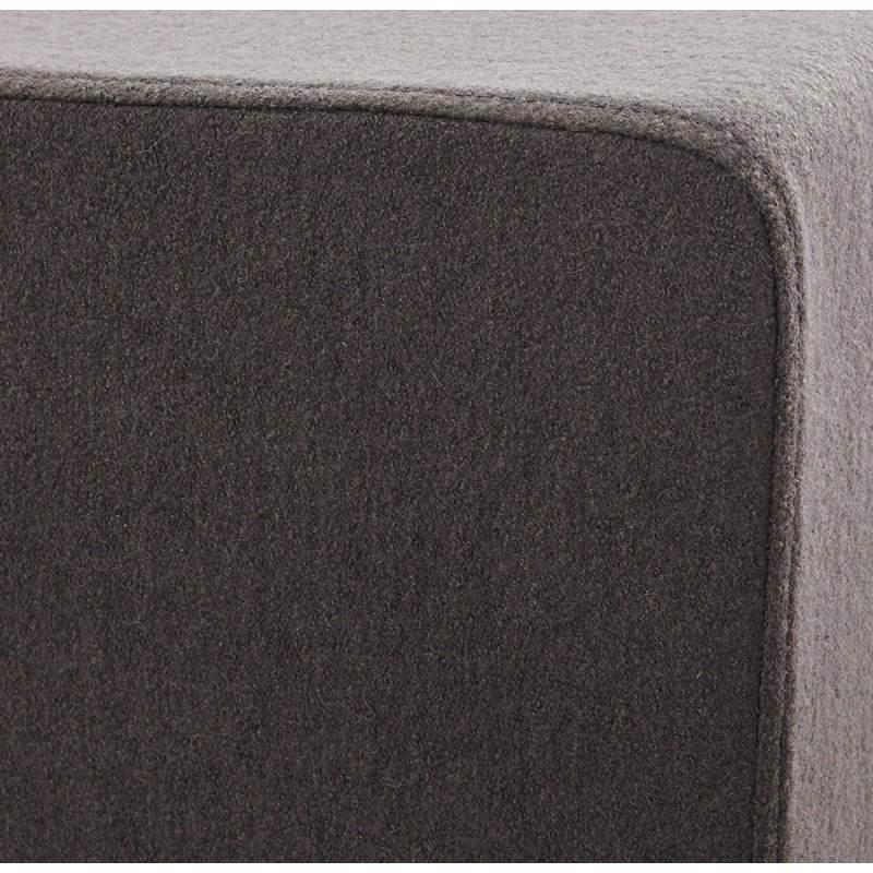 Pouf carré BARILLA en tissu (gris foncé) - image 23345
