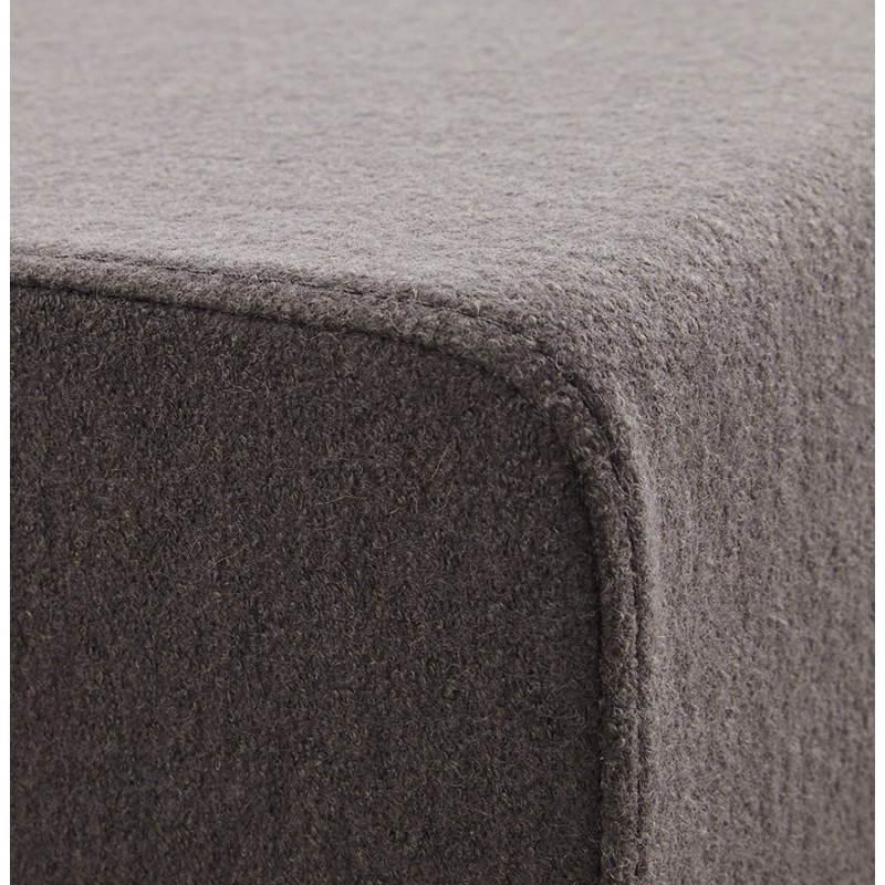 Pouf carré BARILLA en tissu (gris foncé) - image 23346
