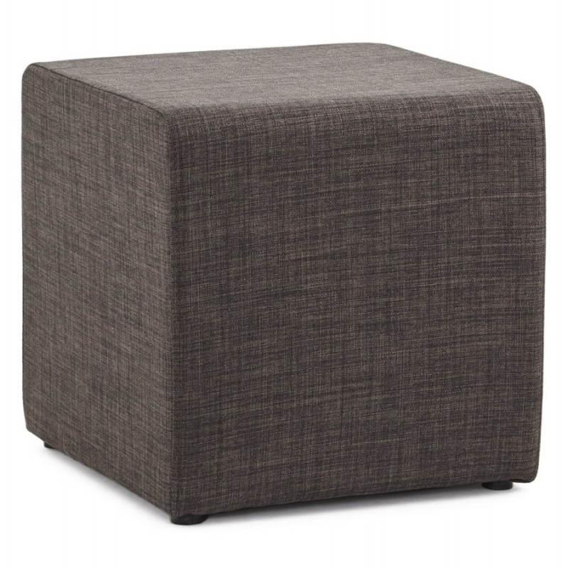 Pouf carré FUSIL en tissu (gris foncé) - image 23351