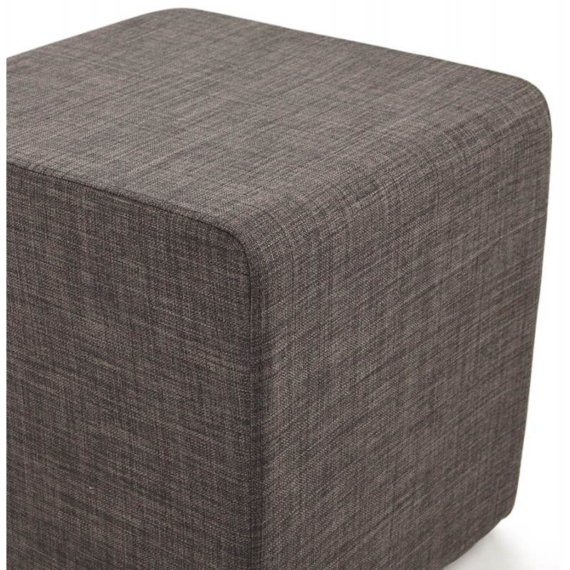 Pouf carré FUSIL en tissu (gris foncé) - image 23354