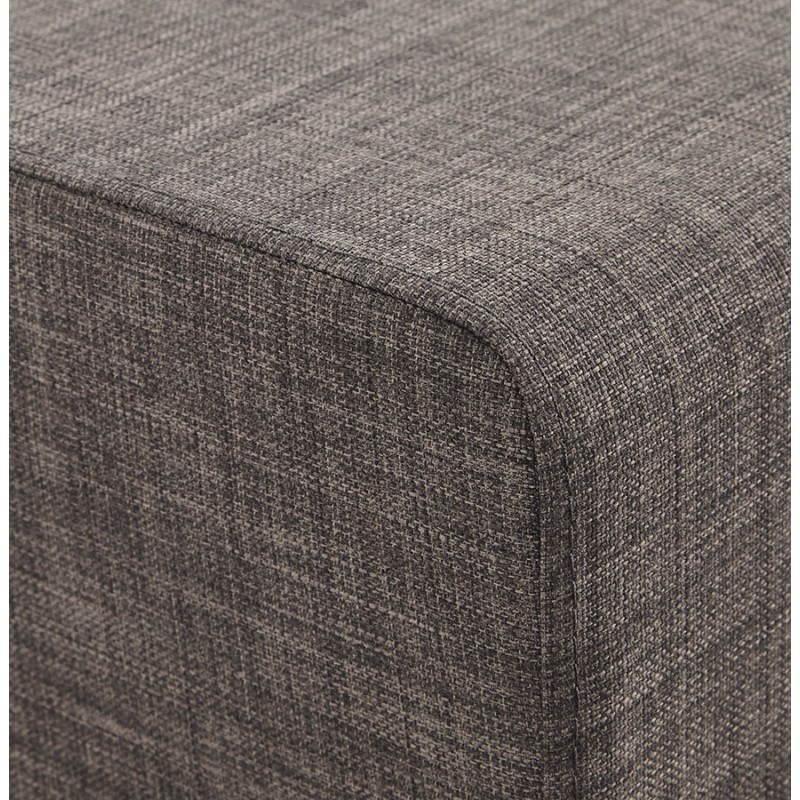 Pouf carré FUSIL en tissu (gris foncé) - image 23355