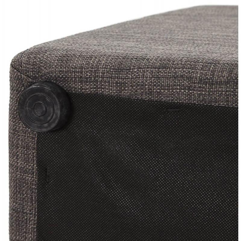 Pouf carré FUSIL en tissu (gris foncé) - image 23357