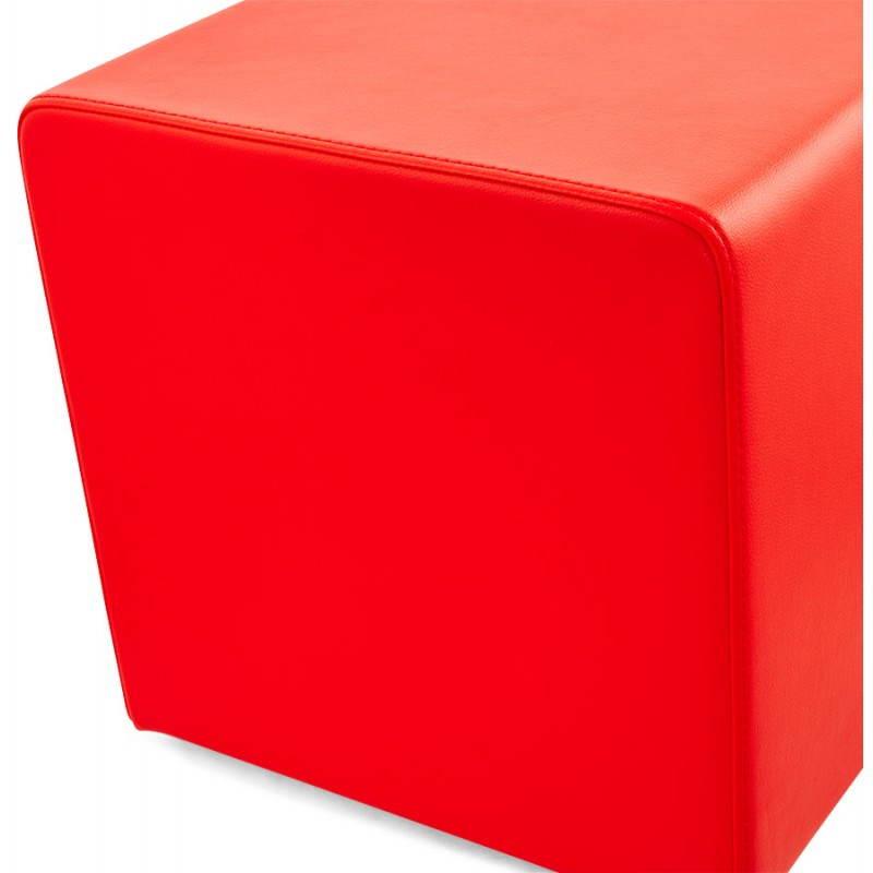 Pouf carré PORTICI en polyuréthane (rouge) - image 23362