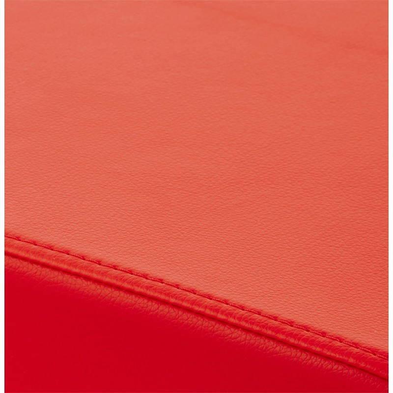 Pouf carré PORTICI en polyuréthane (rouge) - image 23363