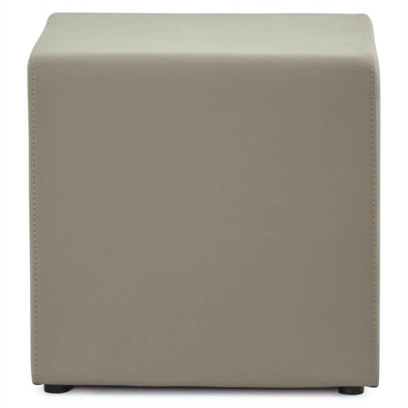 Pouf carré PORTICI en polyuréthane (gris) - image 23378