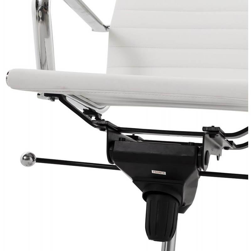 Fauteuil de bureau rotatif AMEN en polyuréthane (blanc) - image 23416