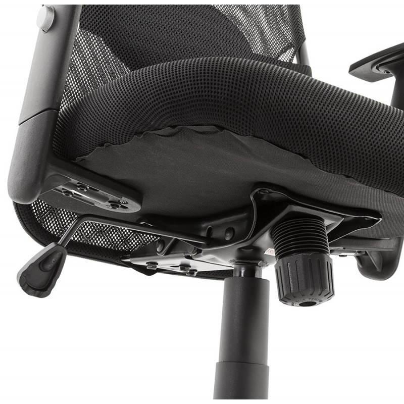 Fauteuil de bureau MODICA en tissu (noir) - image 23524